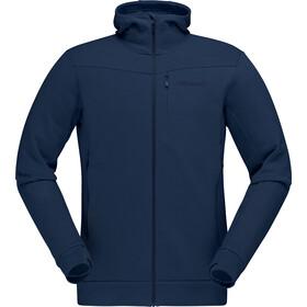 Norrøna Falketind Warmwool2 Bluza z kapturem Mężczyźni, indigo night